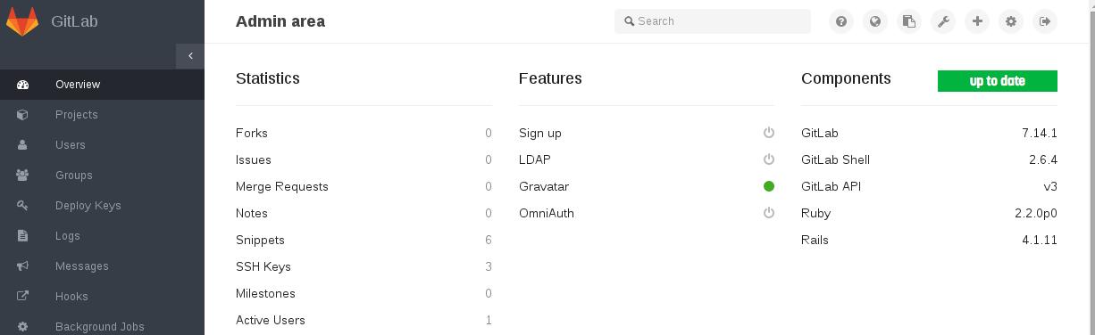 Interface Gitlab 7.14